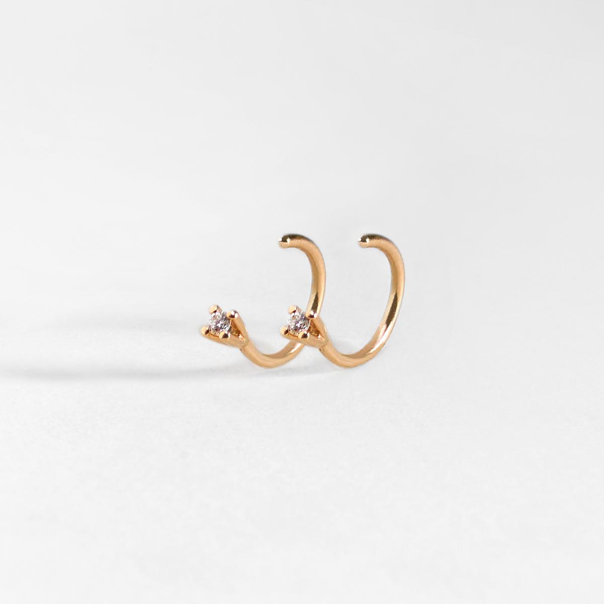 Nil Diamond Huggie Earrings